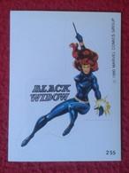 SPAIN 1980 CROMO OLD COLLECTIBLE CARD PEGATINA ADHESIVO STICKER PERSONAJE DE MARVEL COMICS TERRABUSI HEROES BLACK WIDOW - Cromos