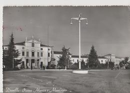DUEVILLE  PIAZZA MONZA E MUNICIPIO,PANORAMICA.VIAGGIATA-1959-F.G.-NM.804 - Vicenza