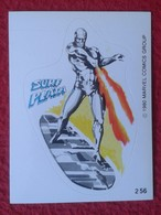 SPAIN 1980 CROMO OLD COLLECTIBLE CARD PEGATINA ADHESIVO STICKER PERSONAJE DE MARVEL COMICS TERRABUSI HEROES SURF PLATA - Cromos