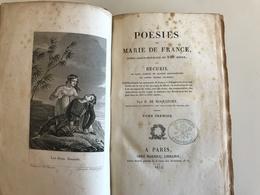 Poesies De Marie De France Par B. ROQUEFORT - 1832 - Tome Premier - Poésie