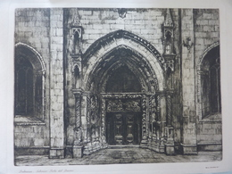 """Stampa """"DALMAZIA Sebenico Porta Del Duomo"""" Baldassini Anni '30 - Altri"""