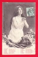Illust-192PH27 BERGERET, Prière D'une Jeune Fille Sur Le Point De Coiffer Ste Catherine, Cpa Précurseur BE - Bergeret