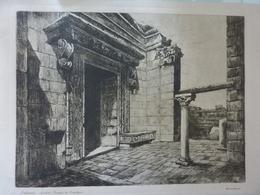 """Stampa """"DALMAZIA Spalato - Tempio Di Esculapio"""" Baldassini Anni '30 - Altri"""