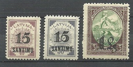 LETTLAND Latvia 1927 Michel 114 - 116 * - Letland