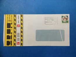 ITALIA 750 LIRE CASTELLO ISOLATO SU BUSTA PUBBLICITARIA SEPA ALBUM COMPACT DISC CD FAENZA - 6. 1946-.. Repubblica