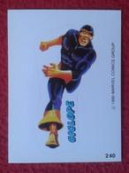 SPAIN 1980 CROMO OLD COLLECTIBLE CARD PEGATINA ADHESIVO STICKER PERSONAJE DE MARVEL COMICS TERRABUSI HEROES CÍCLOPE VER - Cromos