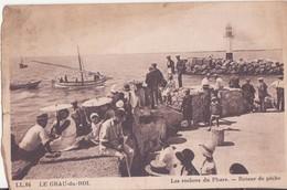 CPA - 64. LE GRAU DU ROI - Les Rochers Du Phare, Retour De Pêche - Le Grau-du-Roi
