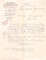24-0337   1910 CHOCOLAT GUERIN BOUTRON A PARIS - M. FOUCAULD A COGNAC - France