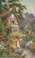 "Raphael Tuck & Sons ""Oilette"" Cottage Gardens - Paintings"
