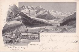 CPA  Switzerland/Suisse - Glacier Roseg - Hôtel Du Glacier Roseg, Propr. Tratschin - 1899 - GR Grisons