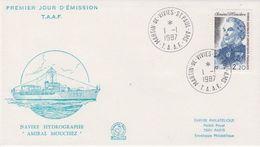 TAAF 1987 Amiral Mouchez 1v FDC Ca Martin-de-Vivies St. Paul Amsterdam (41979) - FDC