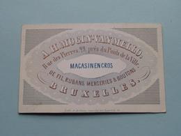 A. H. MOGIN-VAN MELLO Magasin Petite Rue Des Pierres 29 BRUXELLES ( Porcelein / Porcelaine ) Formaat +/- 10 X 6 Cm - Cartes De Visite