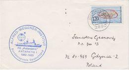 Germany 1982 Alfred Wegener Institut FS Polarstern Antarktis I Ca 27.12.82 Bremerhaven Cover (41981) - Poolshepen & Ijsbrekers