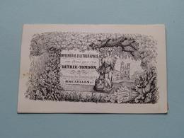 DETRIE - TOMSON Petite Rue Des Dominicains 15 BRUXELLES ( Porcelein / Porcelaine ) Formaat +/- 10 X 6 Cm - Cartes De Visite