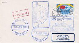 Russia 1989 MS Kazakhstan Cover Ca 18.06.89 Alesund (41982) - Poolshepen & Ijsbrekers