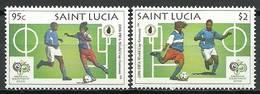 Saint Lucia 2006 Mi 1255-1256 MNH ( ZS2 SLC1255-1256davWC09 ) - Coupe Du Monde