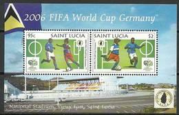Saint Lucia 2006 Mi Bl 69 MNH ( ZS2 SLCbl69davWC09 ) - Coupe Du Monde