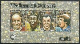 Malta 2006 Mi Bl 33 MNH ( ZE2 MLTbl33davWC09 ) - Coupe Du Monde