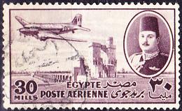 Ägypten - Flugzeug Vom Typ Dakota über Nilstaudamm (Mi.Nr.: 312) 1947 - Gest Used Obl. - Poste Aérienne