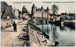 56 JOSSELIN - E Chateau - Les Bords De L'Oust - Josselin