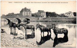 56 PONTIVY - Le Bain Des Chevaux Devant Les Casernes De Cavalerie - Pontivy