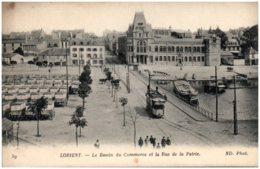 56 LORIENT - Le Bassin Du Commerce Et La Rue De La Patrie - Lorient