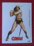 SPAIN 1980 CROMO OLD COLLECTIBLE CARD PEGATINA ADHESIVO STICKER PERSONAJE DE MARVEL COMICS TERRABUSI HEROES CONAN VER - Cromos