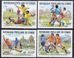 Kongo, 1990, 1144/47,  Fußball-Weltmeisterschaft 1990.  MNH ** - Neufs