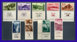 1953 - 1956 - Israel - Sc. C 09 - C 17 - C Tab - MNH - Valor Catalogo 130€ - IS- 034 - 02 - Israel