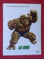 SPAIN 1980 CROMO OLD COLLECTIBLE CARD PEGATINA ADHESIVO STICKER PERSONAJE DE MARVEL COMICS TERRABUSI HEROES LA COSA VER - Cromos