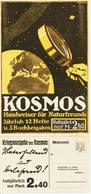 Original-Werbung - Prospekt 1915 :  2-Seiter Kartoniert:  KOSMOS KRIEGSAUSGABE - Ca. 165 X 360 Mm - Publicité