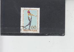 UNGHERIA  1963 - Yvert  1541° - Pattinaggio - Pattinaggio Artistico