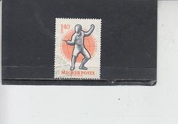 UNGHERIA  1959 - Yvert  1301° - Scherma - Scherma