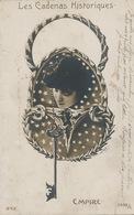 Montage Photo Surrealisme Les Cadenas Historiques Empire Clef Visage De Femme Leger Defaut - Photographs