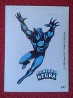 SPAIN 1980 CROMO OLD COLLECTIBLE CARD PEGATINA ADHESIVO STICKER PERSONAJE DE MARVEL COMICS TERRABUSI HEROE PANTERA NEGRA - Cromos