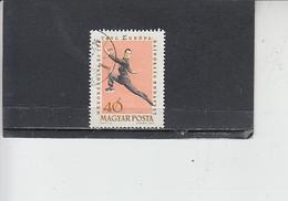 UNGHERIA  1963 - Yvert  1540° - Pattinaggio Artistico - Pattinaggio Artistico