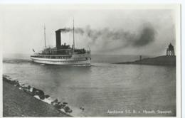 Boot - Bateau - Ship - Shiff - Aankomst S.S.  R. V. Hasselt - Stavoren - Uitg. Firma Koopmans - Paquebots