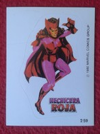 SPAIN 1980 CROMO OLD COLLECTIBLE CARD PEGATINA ADHESIVO STICKER PERSONAJE DE MARVEL COMICS TERRABUSI HECHICERA ROJA VER - Cromos