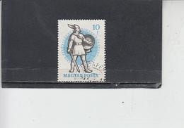 UNGHERIA  1959- Yvert  1295 - Scherma - Scherma