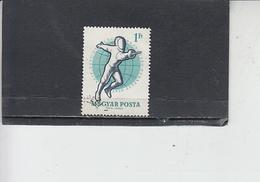 UNGHERIA  1959- Yvert  1300 - Scherma - Scherma