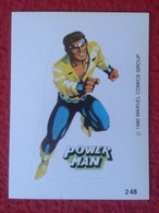 SPAIN 1980 CROMO OLD COLLECTIBLE CARD PEGATINA ADHESIVO STICKER PERSONAJE DE MARVEL COMICS TERRABUSI HEROES POWER MAN - Cromos