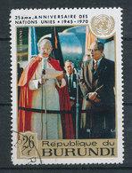 MPI 663 - Visite Papale Aux Nations Unies - Burundi