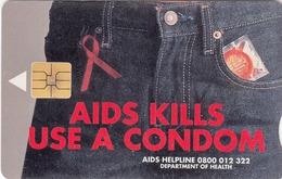 SOUTH AFRICA - Ribbon & Condom (Ed. 07/2001) , 20 R, Telkom Card, Used - Afrique Du Sud
