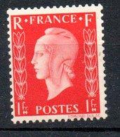 "Marianne De Dulac - 1942: 1er Projet ""type I"" - 1F Rose  N°701B - 1944-45 Marianne Of Dulac"