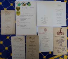Lot De 7 MENUS 1920- 1949- 1955- 1960 - Menükarten