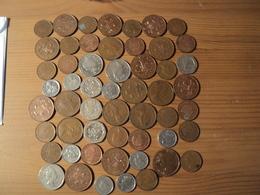 ANGLETERRE. LOT DE 54 PIECES TOUTES DIFFERENTES. 1971 / 2002 - 1971-… : Monnaies Décimales