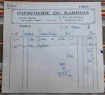 55 BAR LE DUC IMPRIMERIE DU BARROIS - Printing & Stationeries