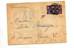 Lettre Pneumatique  Cachet Paris Sur Merson - Postmark Collection (Covers)