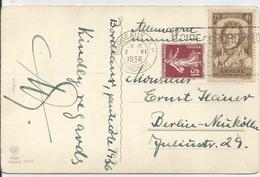 1936 - N°310 + 189 Oblitérés (o) Sur Carte Vers BERLIN - France