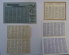 Lot De 4 Mini- CALENDIERS - Calendari